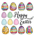 hand drawn set of easter eggs perfect for holiday vector image vector image