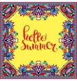 hello summer hand written lettering inscription on vector image