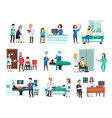hospital patients hospitalized patient on vector image vector image