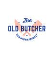label logo butchery meat shop vector image