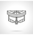 Longboard front abstract line icon vector image vector image
