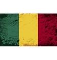 Malian flag Grunge background vector image vector image