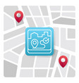 map logo icon with blue gradient color vector image vector image
