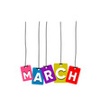 march woed vector image