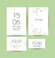 modern wedding collection vector image
