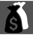 Money Bags Flat Icon vector image vector image