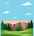 neautiful nature landscape scene vector image