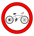 No bike icon vector image