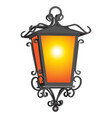 oold rustic detailed lantern on white vector image vector image
