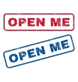 Open Me Rubber Stamps vector image vector image