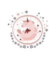 Pegasus Fairy Tale Character Girly Sticker In vector image vector image