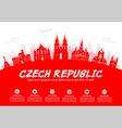 Prague Czech Republic vector image vector image