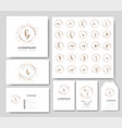 premium logo templates for weddinglogobusiness vector image