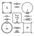 Rope Frames Black And White Set vector image vector image