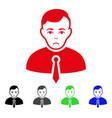 sad businessman icon vector image vector image