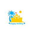 sand holiday logo vector image vector image