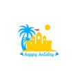 sand holiday logo vector image vector image