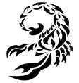 scorpion black vector image vector image
