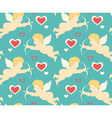 Seamless Festive Love Pattern with Cupid and vector image vector image