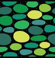 seamless green organic dot shapes vector image vector image