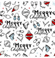 seamless merry christmas pattern vector image