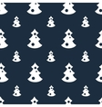 Seamless pattern with christmas trees blue vector image vector image