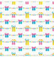 seamless pattern with party presents and colorful vector image vector image