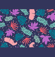 seamless tropical pattern tropical plants and vector image vector image