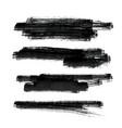 set black paint brush stroke background vector image vector image