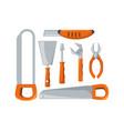 set equipment tool and repair service vector image