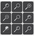set of search find lupe icons vector image