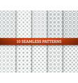simple patterns set vector image vector image