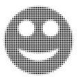 smile halftone icon vector image