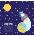 Space Travel Cartoon Web Page Template vector image vector image