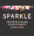 sparkle display font vector image