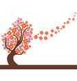 spring flowers tree flowing vector image