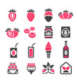 strawberry icon vector image