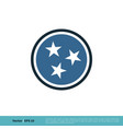 tennessee flag icon logo template design eps 10 vector image vector image