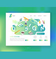 website development web design landing page vector image vector image