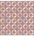 Geometric seamless pattern with colorful circles vector image
