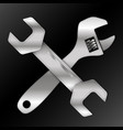 spanner and wrench vector image