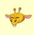 cartoon giraffe smiling vector image