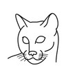 animal cat icon design clip art line icon vector image vector image