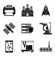appliance icons set simple style vector image