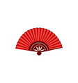 asian red open fan icon or symbol flat vector image vector image