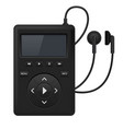 audio player music device with headphones vector image vector image