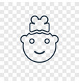 baby girl concept linear icon isolated on vector image vector image