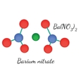 BaN2O6 Barium nitrate molecule vector image vector image