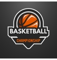 Basketball sports logo label emblem vector image vector image