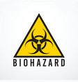 biohazard sign isolated vector image vector image